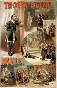 Affiche piece Hamlet
